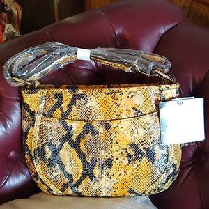B Makowsky python print leather purse